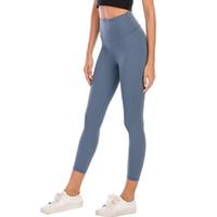 L-003 Pantalons de yoga pour femmes Gym hautement élastique Lu Flexible Tissu Leggings léger Nu Sensation de Yoga Pantalon de yoga Fitness Port Mesdames Marque 12 #