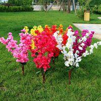 1 bouquet 7 fourchettes cerise artificielle printemps cerise prune de pêche fleur de fleur de la soie fleur de fleur de la soie 53cm 20191