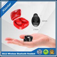 XG12 Doble TWS Wireless Bluetooth 5.0 Auricular Estéreo HiFi Sound Earpephones Manos libres en Auriculares Auriculares con MIC En stock