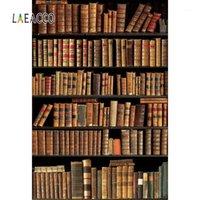Фоновый материал Laeaco Vinyl Backrops для посылки старая деревянная книжная полка книги библиотеки библиотеки домашнего декора po предпосылки студия1