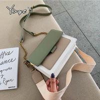 YBYT мода кожа посланник роскошные сумки женские сумки дизайнерская цепь широкий плечевой ремешок для корзины