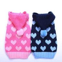 Cat Dog Sweater Hoodie Hearts Jumperpet Puppy Coat Chaqueta Ropa caliente para pequeños perros medianos gatos