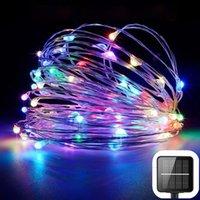Güneş Bahçe Işık Dize 100 LED 10 M Açık Noel Dekorasyon Şerit Işıkları Bakır Tel Toprak Fiş Peri Aydınlatma Sıcak Satış 13 9LS G2