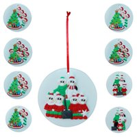 Ornamento redondo do Natal Pendure decorações DIY personalizado Quarentena Família Girts Xmas Tree Snowman Fashion Party Supplies Pingentes E102604