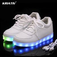 KRIATIV USB-Ladegerät beleuchteter Schuhe für boygirl glühende Turnschuhe Light Up Trainer Kid beiläufige Luminous Turnschuhe Pantoffeln geführt