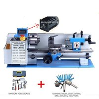 محركات المهنة الكهربائية فرش موتور مخرطة مخرطة آلة المعادن عرض رقمي 32 ملليمتر حفرة المغزل 100 ملليمتر تشاك عادية صغيرة 550