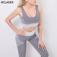Seamless Yoga Fitness Set Running Sports Push-up Bra Women Gym Sport Workout Running Tummy Control Fitness Leggings