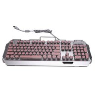 Tastiere X10 Retro TOTTORY TOYWRITER LIGHT TRASMISSION Keycap Wired Mechanical Gaming Keyboard Multiple Effects