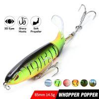 2020 Новый гамбургер Поппер рыболовной приманки для Холодца Topwater Hard Bait Хвост Propeller Plopper Swimbait Swim Bass Pesca Искусственного
