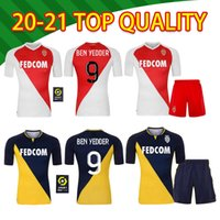 20 21 Top Quality Monaco Ben Yedder Soccer Jerseys Jovetic Golavin Maillot de Foot FloCage Jorge Men Camicia calcio