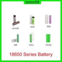 Melhor Qualidade HG2 30Q VTC6 3000mAh VTC5A 2600mAh NCR 3600mAh 25r 2500mAh 18650 Series Bateria E CIG Bateria de célula Li-ion recarregável