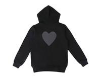 Hoodie-Reißverschlussjacke Herren Hoodie Sweatshirt Lose Art Fashion Tide Winter Mantel Pullover Homme Kleidung mit Herz Stickerei Drucken S-XL