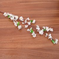 Искусственные цветы Персик Blossom Вишневая декоративная ветвь длинный короткий стиль Свадебная вечеринка Живые гостиницы Крытый декор Цветок Горячие Продажи 2 49HR G2