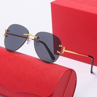 디자인 선글라스 고글 0291 Frameless 장식 패션 안경 UV400 렌즈 최고 품질 간단한 야외 유니섹스 마스크 선글라스 8589-1