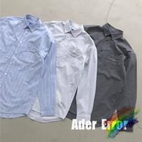 셔츠 남성 여성 1 고품질 긴 소매 블라우스 격자 무늬 셔츠 3colors