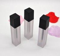 Siyah Cap, Boş Kare Dudak Tube, Taşınabilir DIY Lipgloss Paketli 2020 yeni 7ml Buzlu Dudak Parlatıcı Şişe