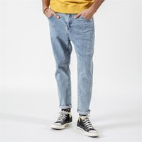 Simwood Spring Winter New Men Side Striped Slim Fit Jeans Fashion Pantaloni Denim di alta qualità Ankle-lunghezza Denim 190033 Y200901