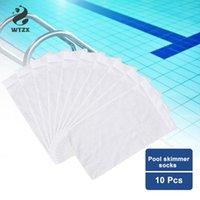 10pcs / lot piscina Skimmer Calcetines para el hogar perfecto para los ahorradores Filtros cestas de skimmers piscina Filtrar Calcetines piscina Suministros