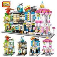 Loz Mini Blocks City View Scene Cinema Store Store Candy Shop الهيغات نماذج اللبنات لعبة عيد للأطفال LJ200928