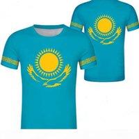 Kazajstán Unisex Estudiante juvenil Número de nombre COMUNIDAD COMUNIDAD CAMISETA NACIONAL BANDER PERSONALIDAD TENDENCIA TENDIENDO COMOS SALVAJES CASUAL T SHIRTS ROPA