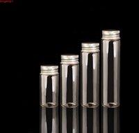 80 stücke Glasflasche Aluminium Schraubkappe Kleine Fläschchen Gewürze Apotheker Jar Vidrio Botella 20ml 30ml 40ml 50mlgood Menge