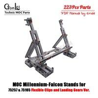 MOC O suporte de exibição para Spacer Wars Millennium Moc Falcon 75105 vertical compatível para 05007 Ultimate Collector's Model Toy C01199