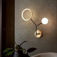 현대 LED 볼 벽 램프 침실 침대 옆 통로 복도 레스토랑 거실 구리 빌라 아파트 계단 노르딕 스커스 램프 조명기구