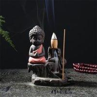 Фиолетовый песок Будда ароматерапия печь керамики задние горы и реки ладан горелки дома мебель офис орнаменты горячей продажи 10HS J2