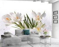 3d Mural Wallpaper 3d Wall Painting Wallpaper Beautiful White Daffodils Living Room Bedroom Wallcovering HD 3d Wallpaper