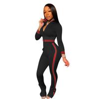 Donne Tracksuit Inverno Autunno Autunno Zipper Crop Top Giacca Treccia Legging Pants Outfit Due pezzi Abbigliamento Set di abbigliamento Cappotto Pantaloni Sportwear Sportwear Hot f120503