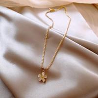 Cat Eye Petal Necklace With Japanese And Korean Fashionable Design Sense Choker Necklace Simple Temperament Elegant Necklace
