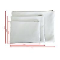 التسامي الفراغات المحفظة DIY قماش حقيبة سحاب التخزين أكياس صغيرة بيضاء إمرأة محافظ رجال الأصالة المحمولة 8 5JY M2