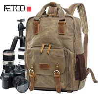 HBP AETOO حقيبة كاميرا المهنية في الهواء الطلق الكتف ريترو التصوير الحزم الباتيك للماء ضوء التصوير