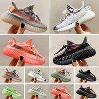 Yeezy Boost 350 V2 Sıcak Çocuk Ayakkabı Koşu Pharrell Williams Numune Sarı Çekirdek Siyah çocuk spor ayakkabıları spor ayakkabıları bebek doğum günü hediyesi Size24-35