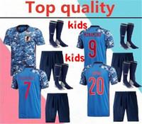 2020 National Team Giappone Honda Kids Soccer Jersey Kit completi 20/21 Kagawa Okazaki Kit camicia da calcio Kit + calzini