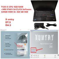 laptop T420 diagnóstico PC 4G CPU ram i5 com MB Estrela Diagnóstico SD compacto C4 / C5 / C6 V2020.09 macio-ware HDD ou SSD bem instalado
