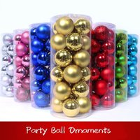 Hot!!! 3Types 60mm 2. 36 Inches Christmas Ball Ornaments Eco ...