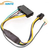 Computerkabel-Anschlüsse ATX 24Pin zu Motherboard 2-Ports 6Pin-Adapter-Netzteil-Kabelkabel für Z220 Z230 SFF-Mainboard-Server WO