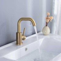 صنبور الحمام نحى الذهب حوض الحمام حوض صنبور الباردة والساخنة بالوعة خلاط بالوعة صنبور مقبض واحد منصة الخيالة المياه TAP1