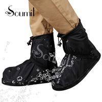 SOUMIT RAIN SHOOD 360 Grad wasserdichte Beschützer für Männer Frauen Regenschutz für Schuhe Bootsabdeckungen Wiederverwendbare Überschuhe transparent