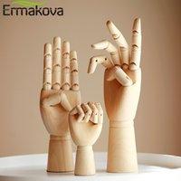 Ermakova Wood Art المعرضة نموذج ناحية مثالية لرسم رسم خشبي مقطعة أصابع مرنة مانيكين اليد الشكل 20120