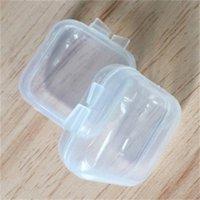 Mischgrößen Square Leere Mini Klare Kunststoff Lagerbehälter Box Fall Mit Deckeln Kleine Box Schmuck Ohrstöpsel Aufbewahrungsbox 231 G2