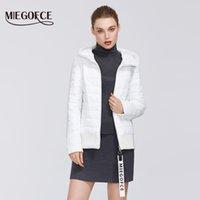 Miegofce 2020 Bahar Kadın Koleksiyonu Pamuk Kadın Bahar Ceket Kısa Uzunluk Dayanıklı Yaka Hood Spor Sınıf Ceket Ile LJ200825