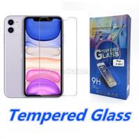 Закаленное стекло для iPhone 11 12 Pro Max X XS XR 7 8 плюс экран протектор 0.3 мм Ультра тонкий стеклянный фильм 9H 2.5D взрывозащищенные с бумажной коробкой