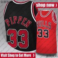 ChicagoToroJersey Scottie 33 Pippen Jerseys College Dennis 91 Rodman North Carolina 23 Jersey di baskey di Michael Jersey 9-28
