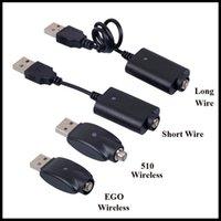 E Cable USB CABLE CABLE CABLE CORTO CORTO CORTO BATERÍA DE CARTA DE CARTA 510 EGO EVOD Cable de carga inalámbrico USB