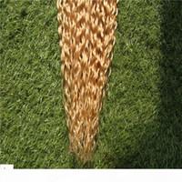 Ruban de couleur blonde blond dans les extensions de cheveux Kinky Curly Hair Extensions de cheveux 10-30 pouces de la peau Tape de trame de la peau 6a