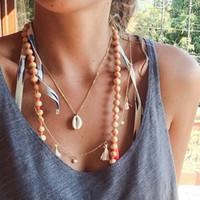 Chokers WTLTC Простые натуральные Cawrie Shell Ожерелья для Женщин Летний Пляж Кулон Ожерелье Минималистский Сречка Choker Ювелирные Изделия1