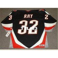 888 # 32 Rob Ray Buffalo Sabres 1999 CCM Retro Hóquei Jersey ou Personalizado Qualquer nome ou Número Jersey Retro
