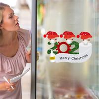 Quarantäne Weihnachtsdekoration Fenster-Aufkleber Weihnachtsmann Kühlschranktürtapete Kühlschrank PVC-Aufkleber-Familie von Ornament OOA9695